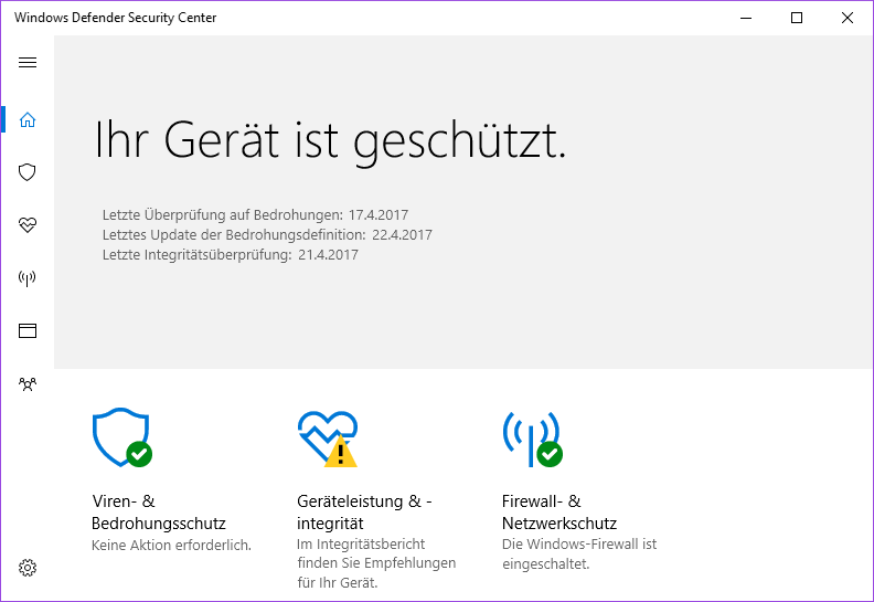 Der Windows Defender